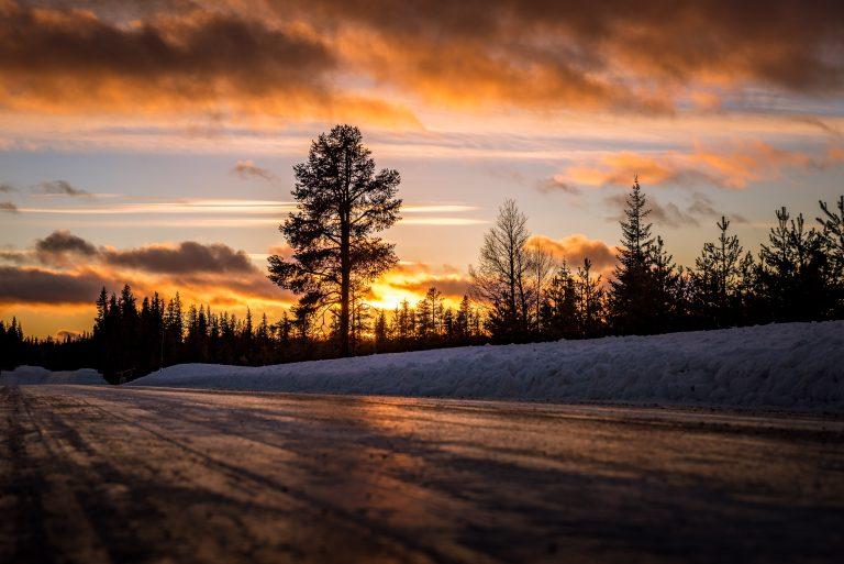 Sonnenuntergang Lappland